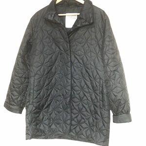 Fairweather black quilted jacket L
